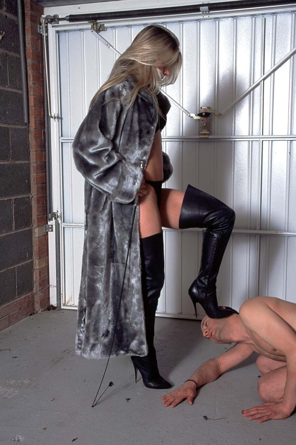 Public sexy mini skirt amp overknee boots gianmarco lorenzi 1