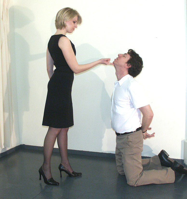 dominant wife spanks henpecked husband